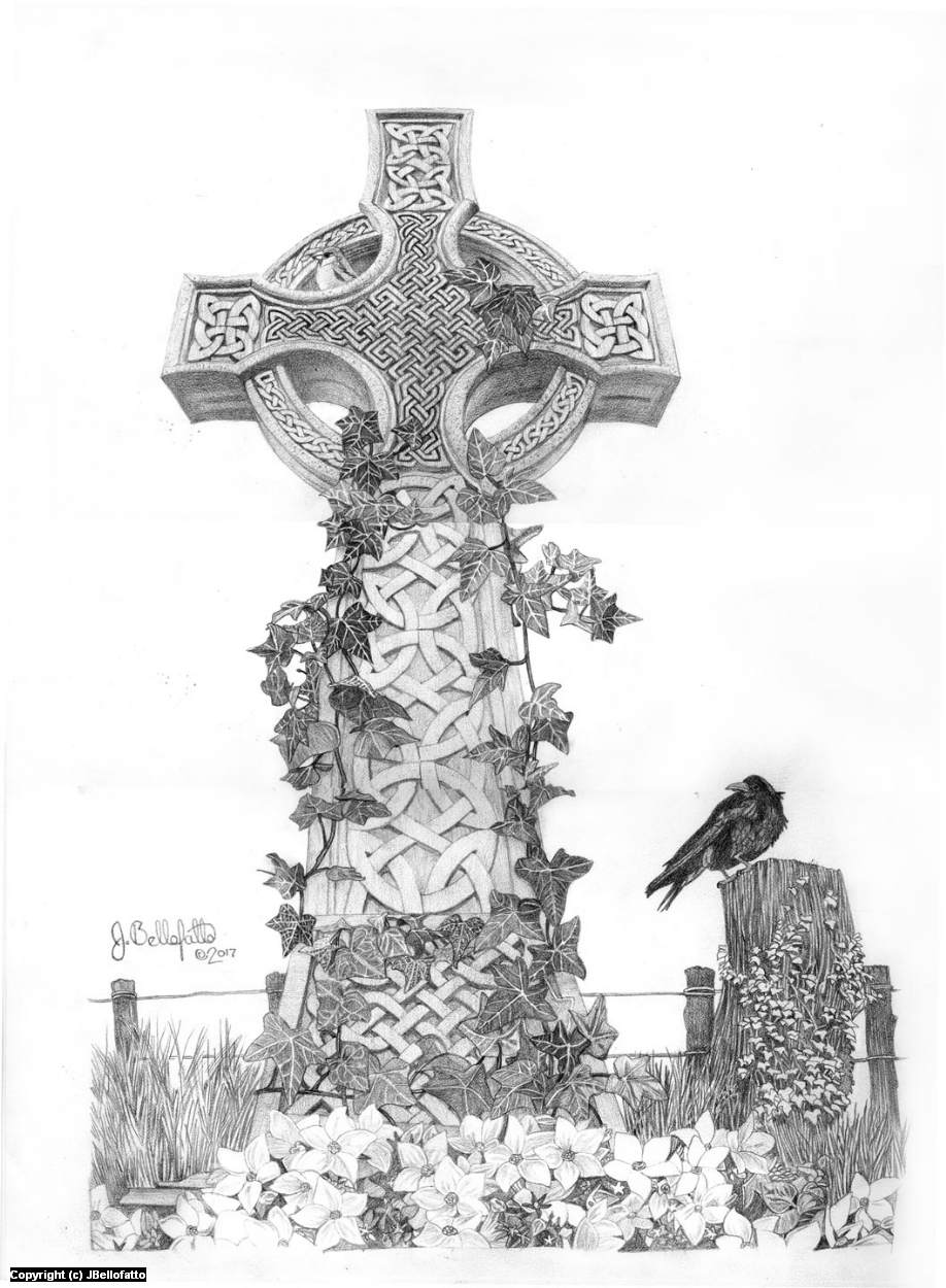 Celtic Cross Artwork by Joseph Bellofatto