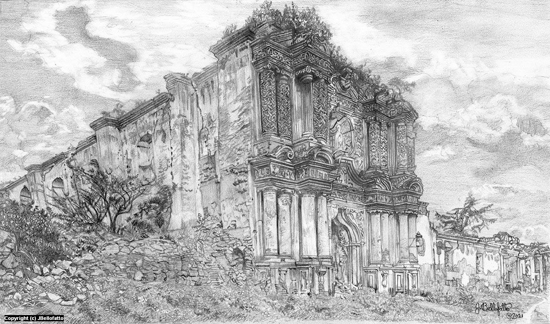 Temple at Antiqua Artwork by Joseph Bellofatto