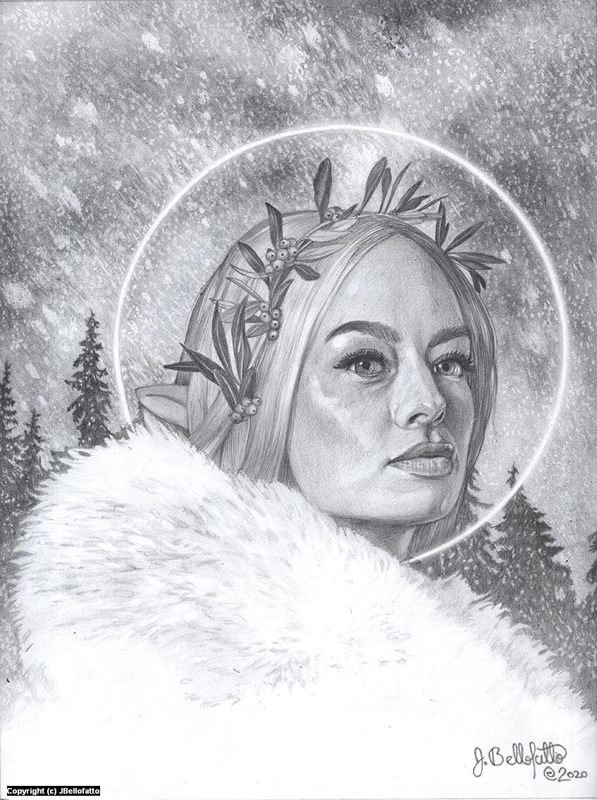 Snow Fairy Artwork by Joseph Bellofatto
