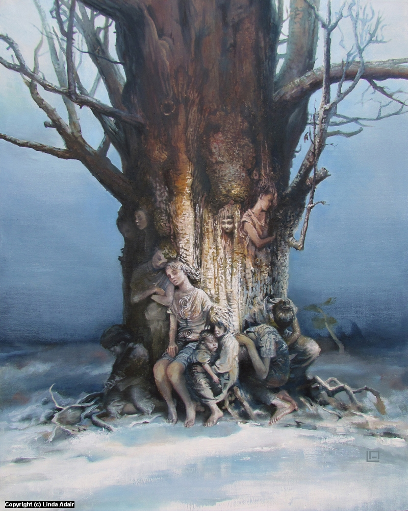 The Tree of Splintered Dreams Artwork by Linda Adair