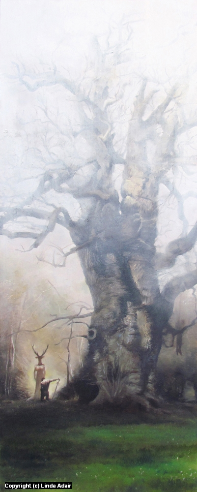 The Oak of Windsor Wood Artwork by Linda Adair