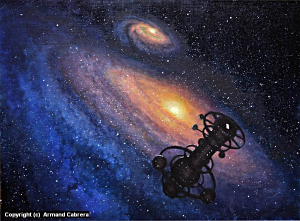 Deep Space observatory Artwork by Armand Cabrera