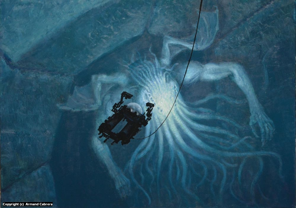 'In Sunken R'lyeh Dead Cthulhu Lies Dreaming'  Artwork by Armand Cabrera