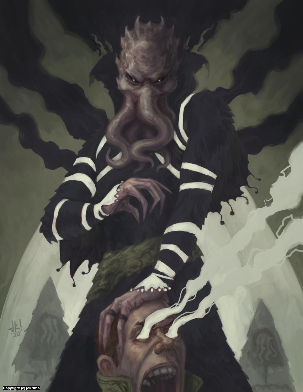 Mind Flayer Artwork by Jeff Kristian