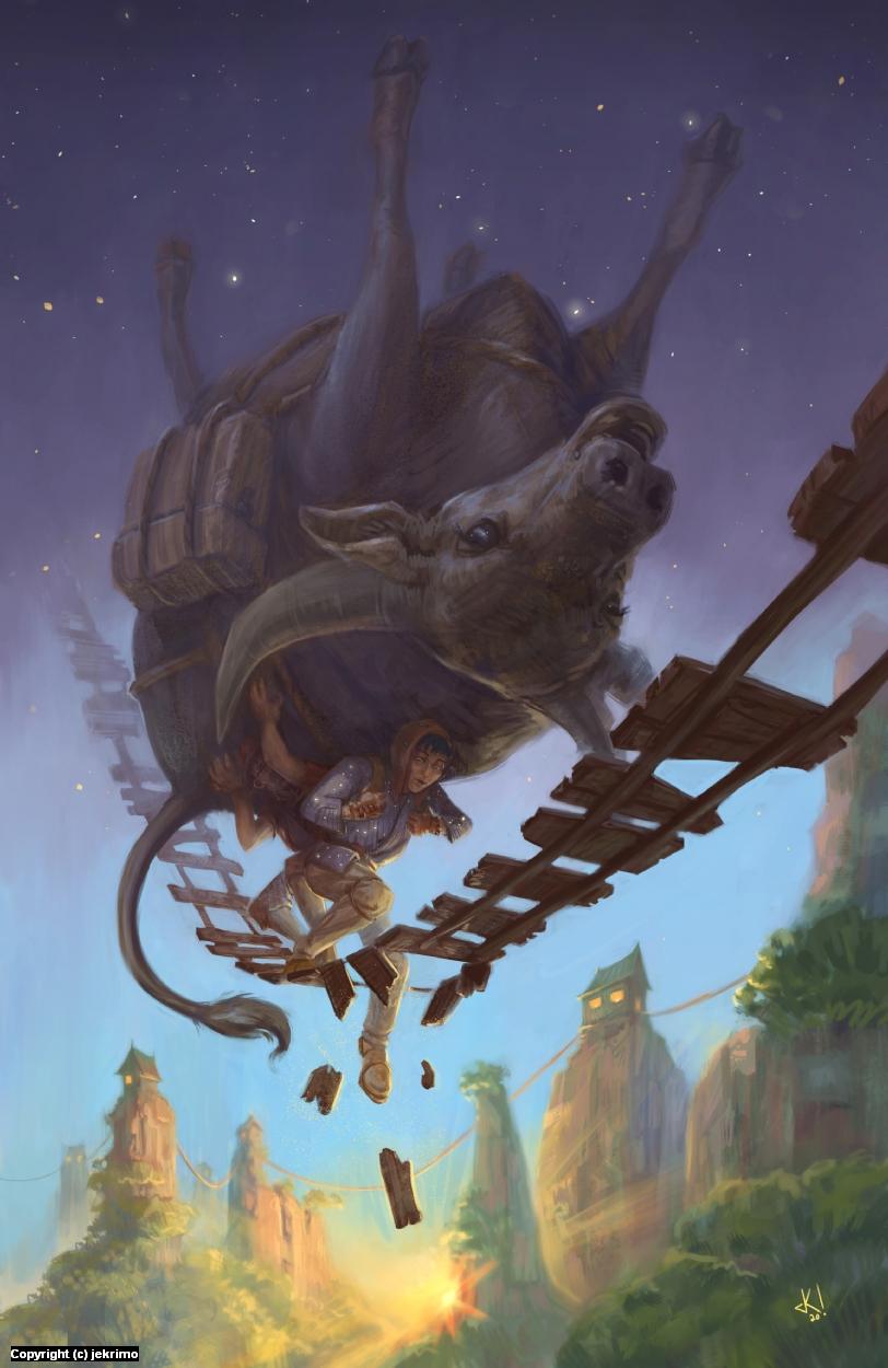 Aesop Ox Artwork by Jeff Kristian