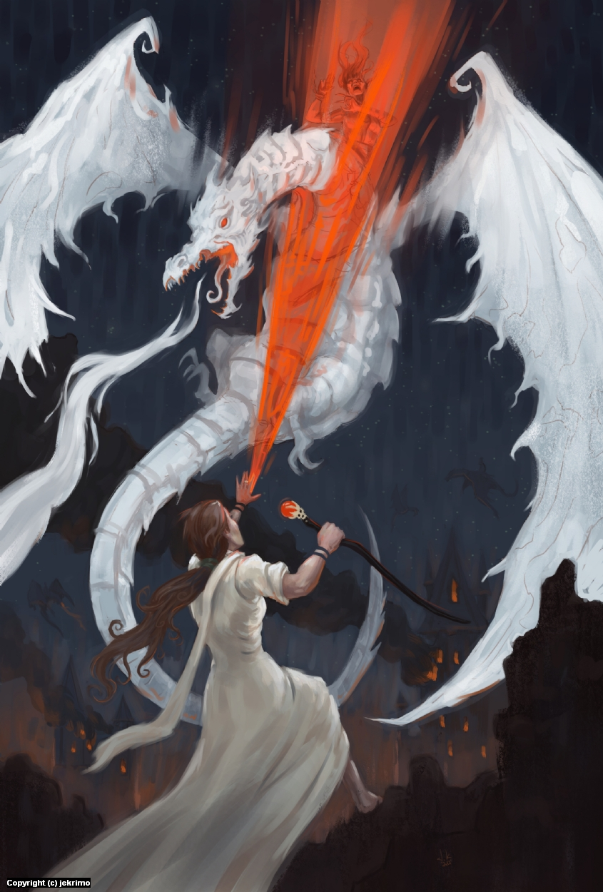 Egwene saves the white tower Artwork by Jeff Kristian