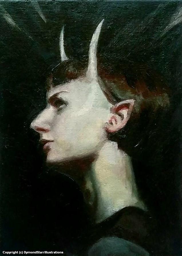She Whispers in the Dark Artwork by Dymond Starr Boutte'