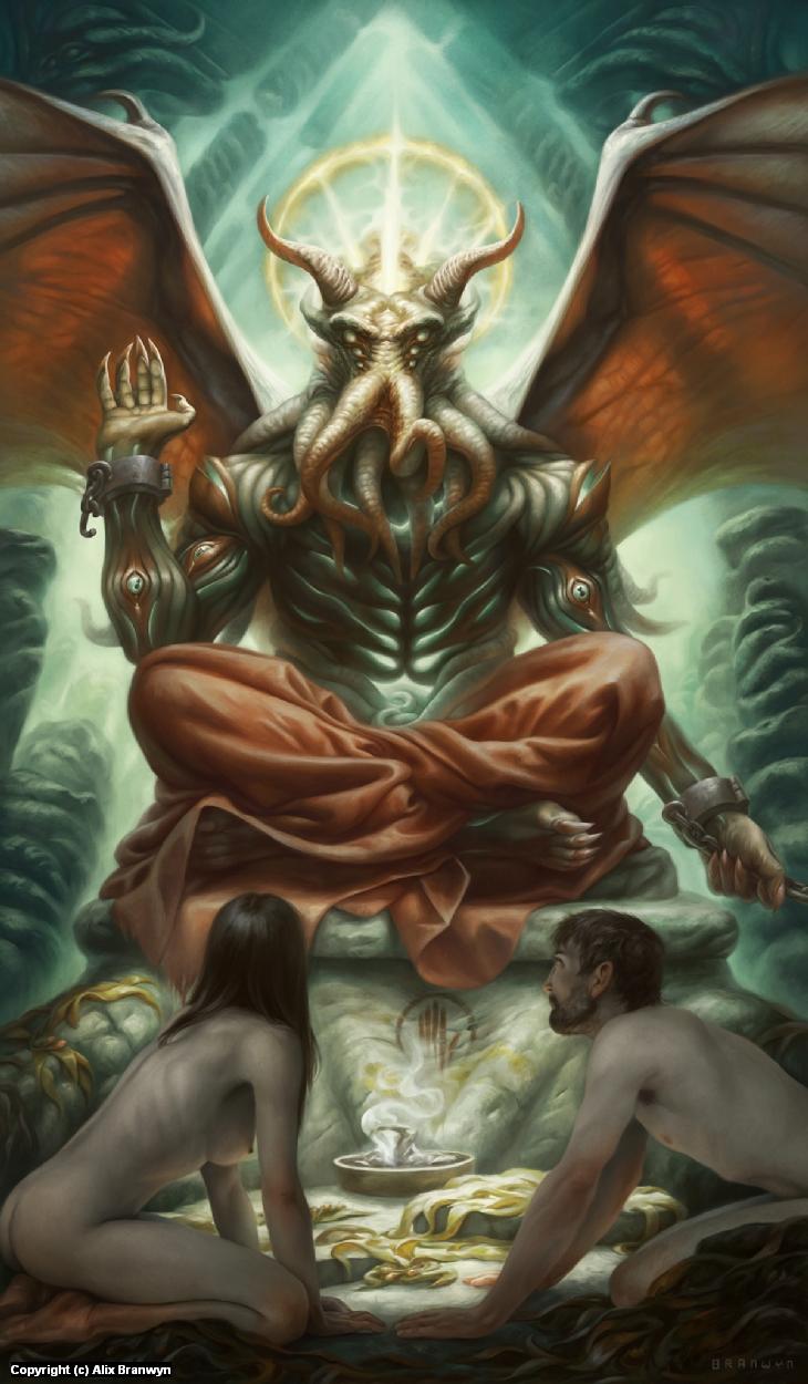 XV. The Devil Artwork by Alix Branwyn