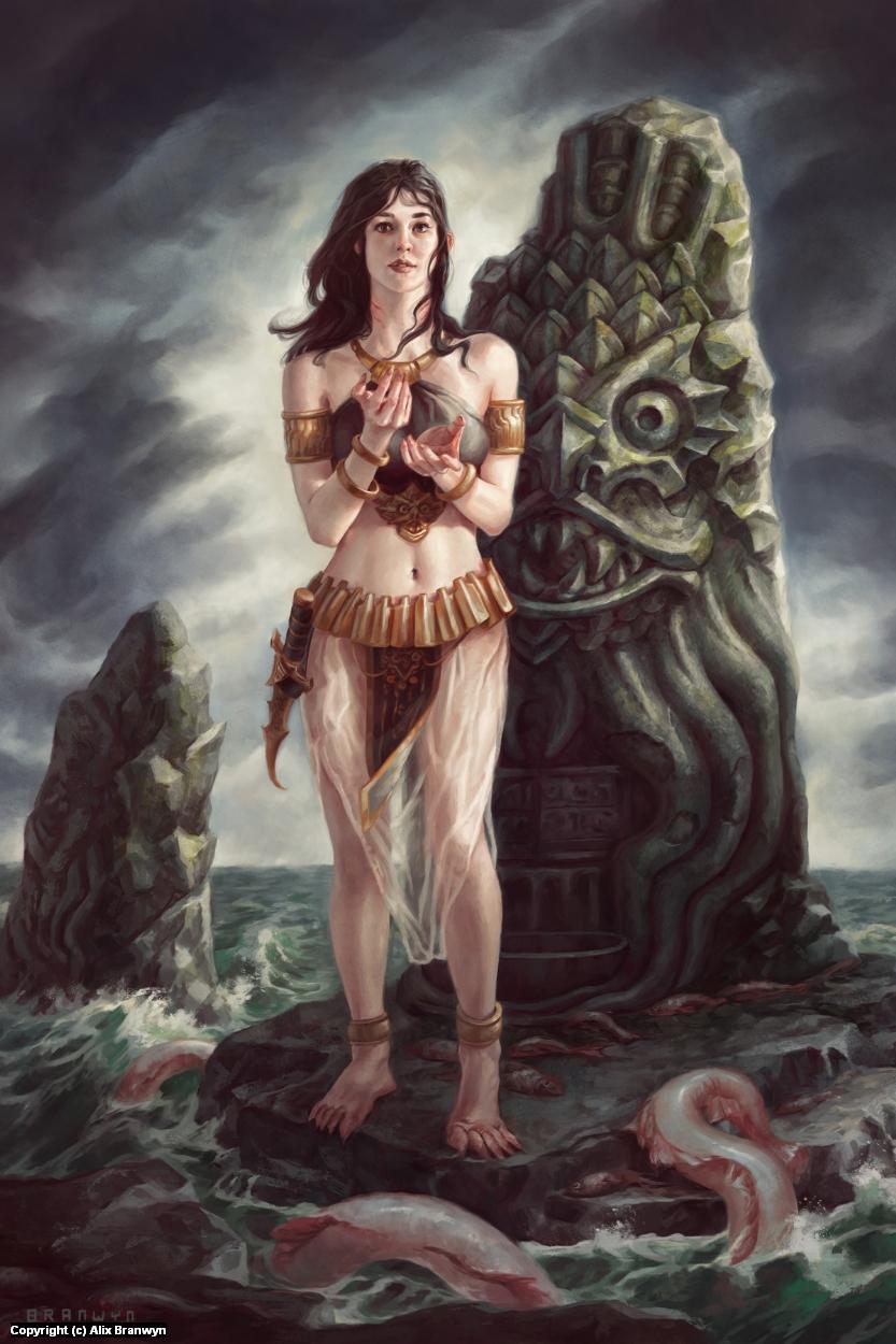 Priestess of Dagon Artwork by Alix Branwyn