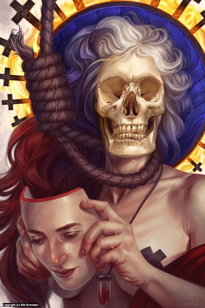 Hexen: Memento Mori Artwork by Alix Branwyn