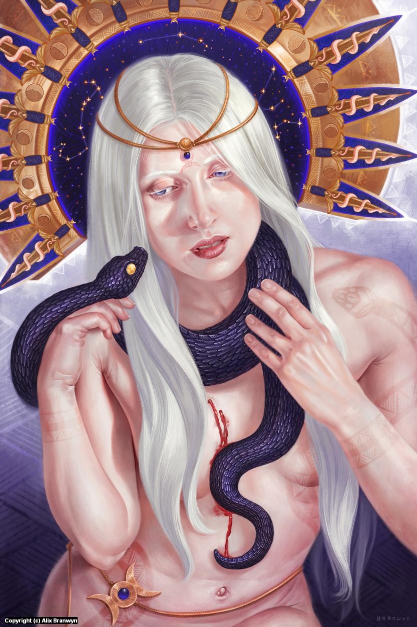 Hexen: Familiar Artwork by Alix Branwyn