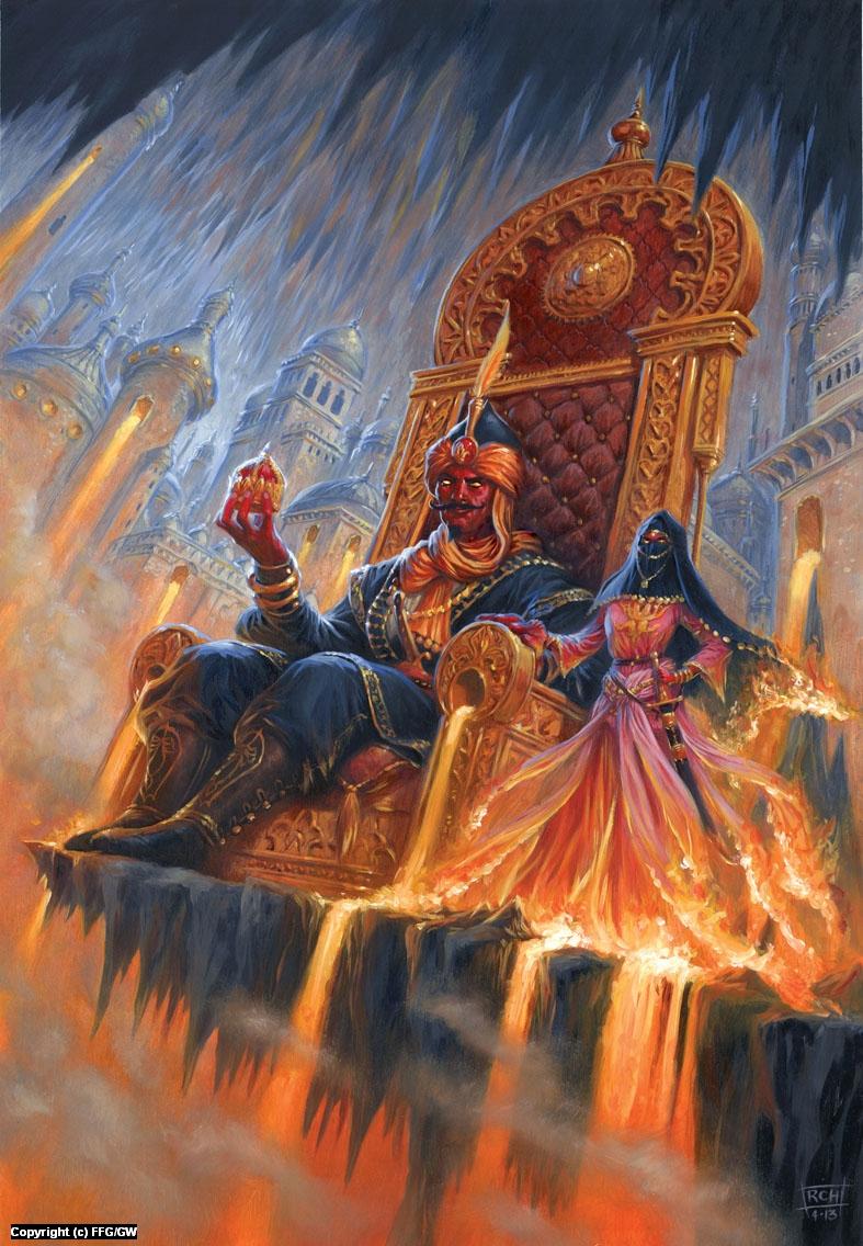 Talisman: The Firelands Artwork by Ralph Horsley
