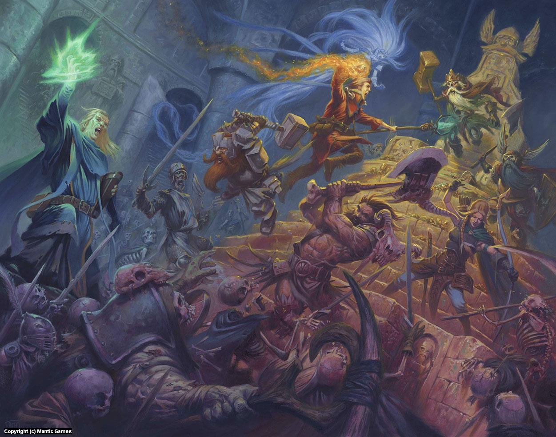 Dungeon Saga Artwork by Ralph Horsley
