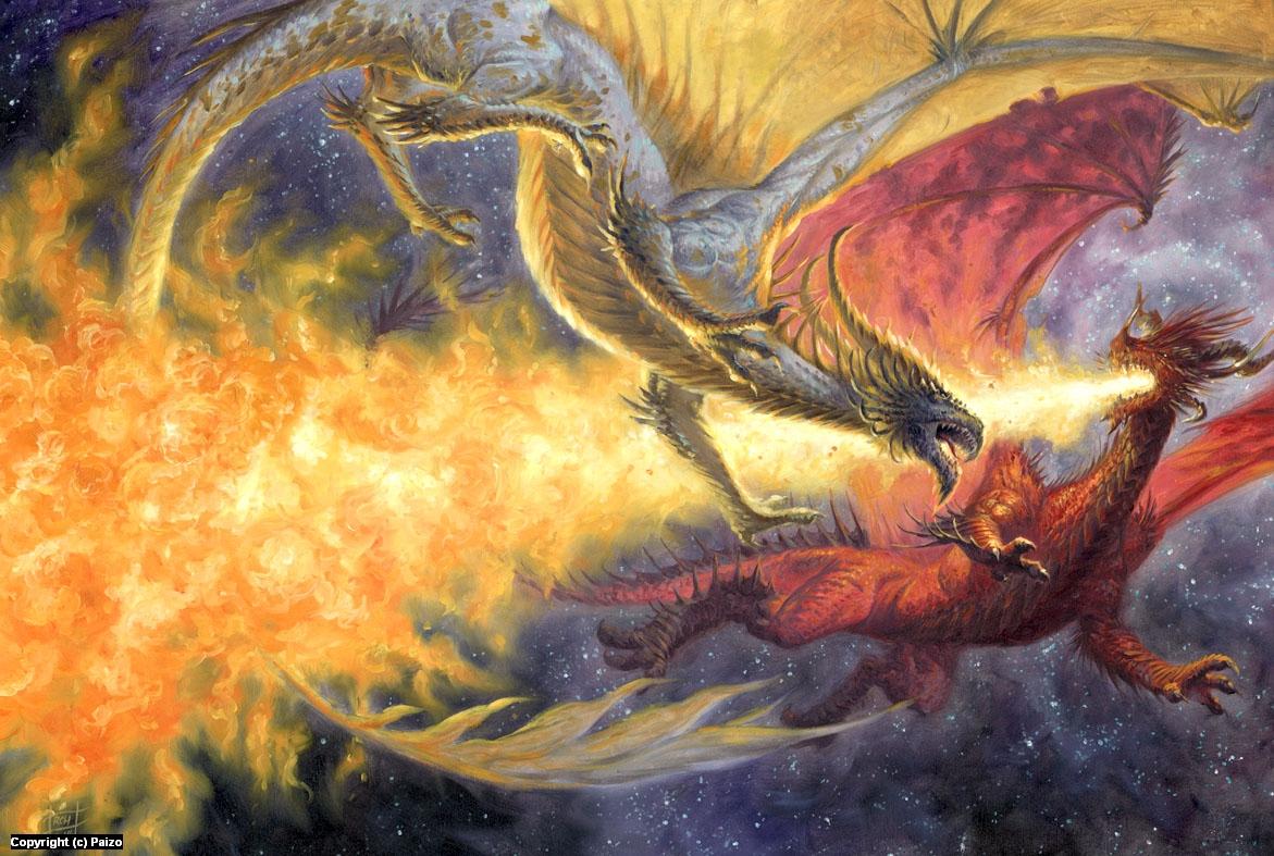 Dragon Duel Artwork by Ralph Horsley