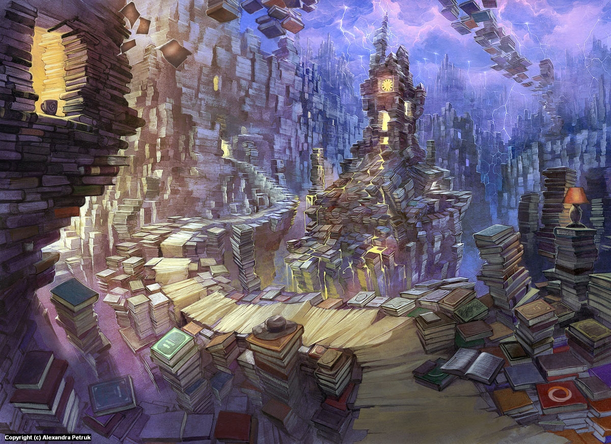 Bookworms village Artwork by Alexandra Petruk