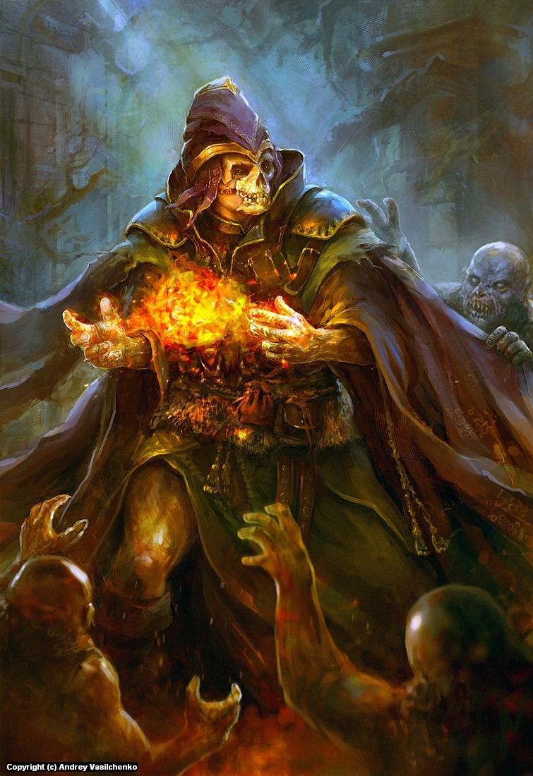 Last sorcery Artwork by Andrey Vasilchenko