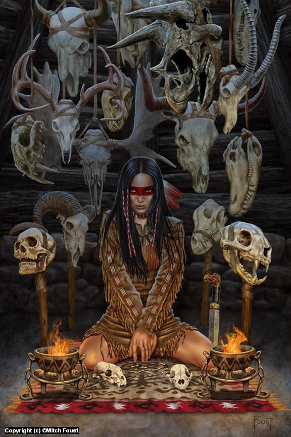 Reader of Bones Artwork by Mitch Foust
