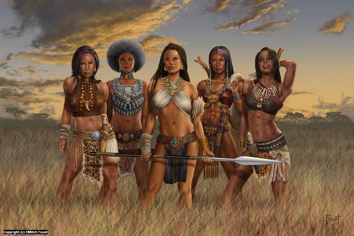 Queens of Nubinora Artwork by Mitch Foust