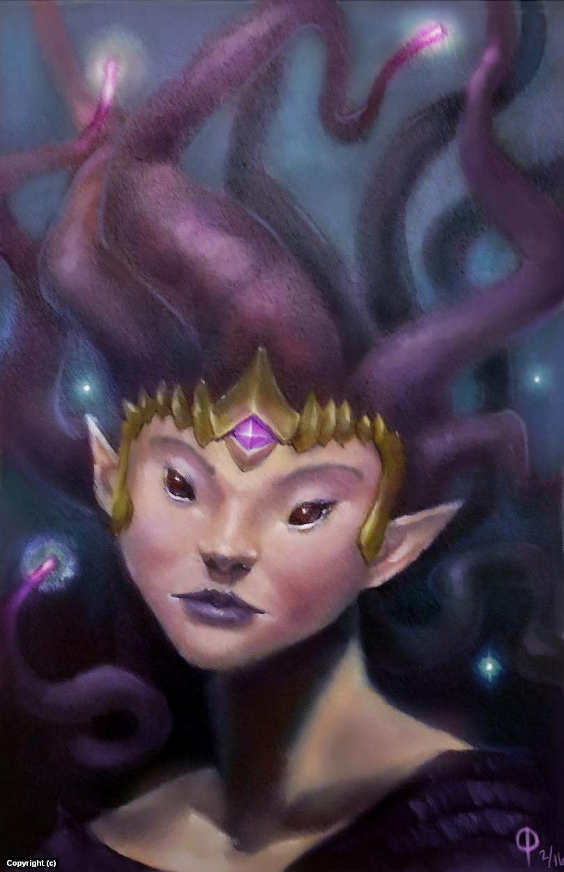 Tentacle Headed Princess Artwork by owen pierce