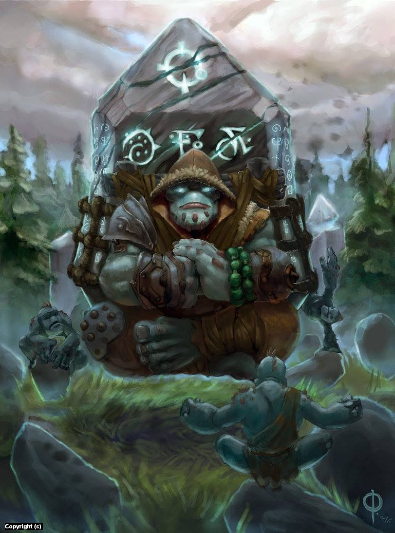 Trollbloods Master Mason Artwork by owen pierce