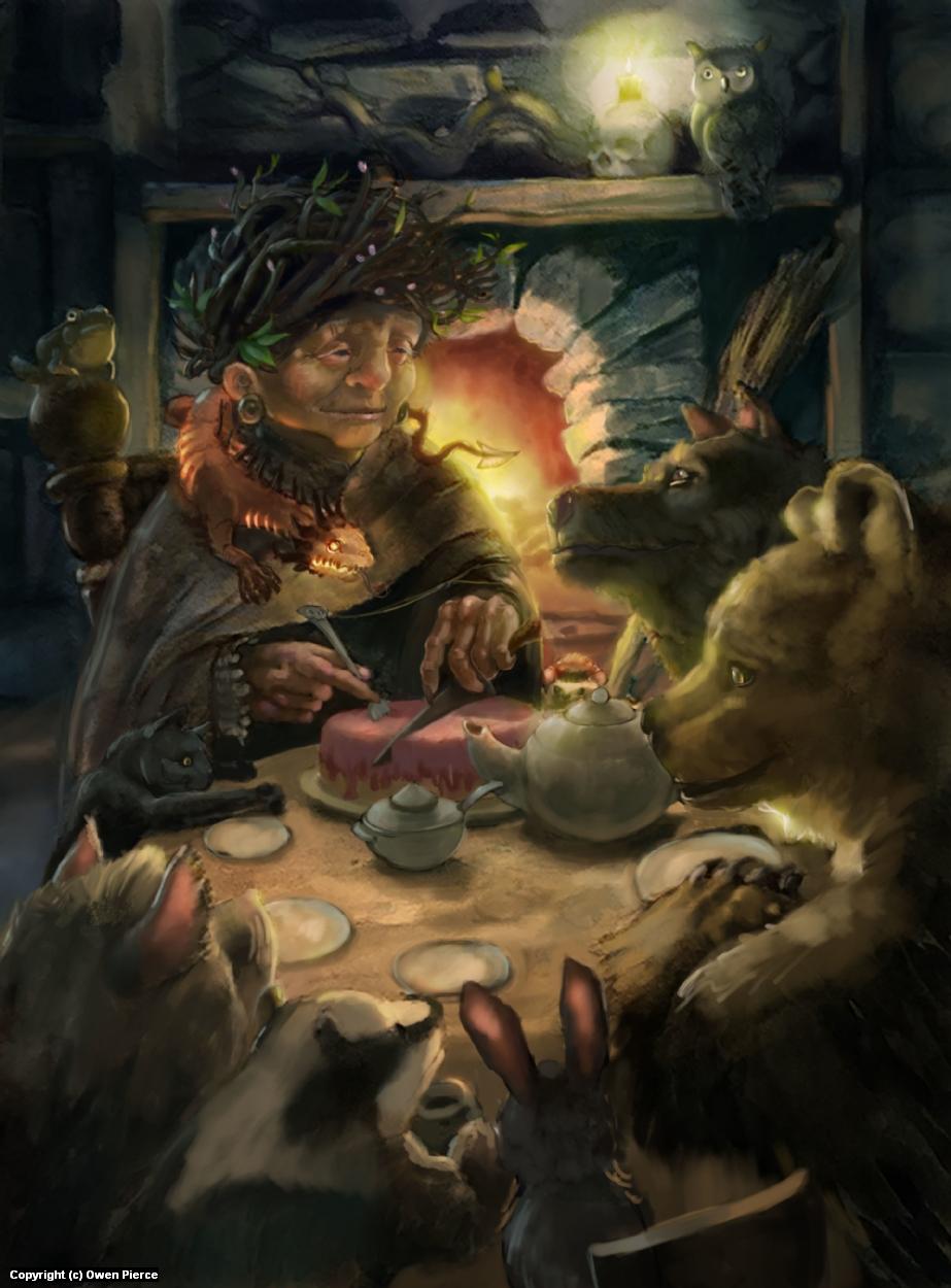 A Witch's Tea Party Artwork by owen pierce