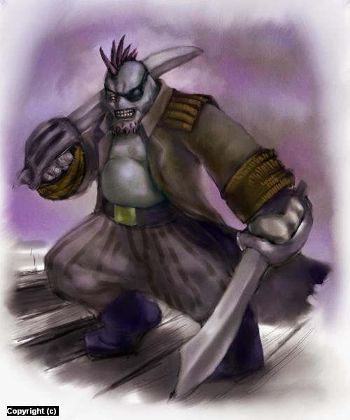 Trollkin Buccaneer Artwork by owen pierce