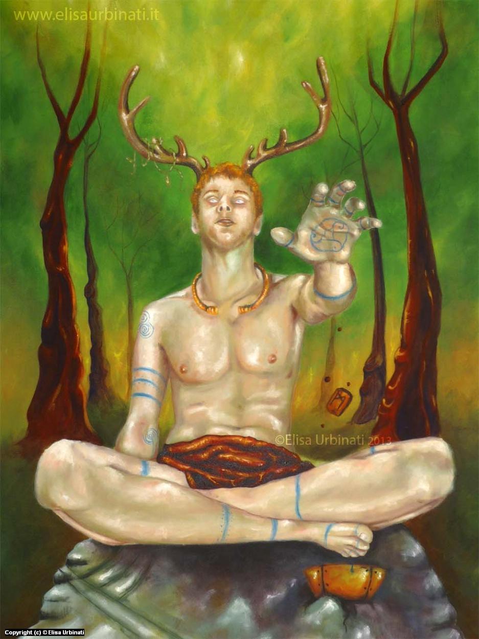 Sacred Green Artwork by Elisa Urbinati