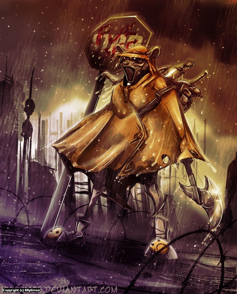 A Rainy Day in Hell Artwork by Kyriakos Kylimos