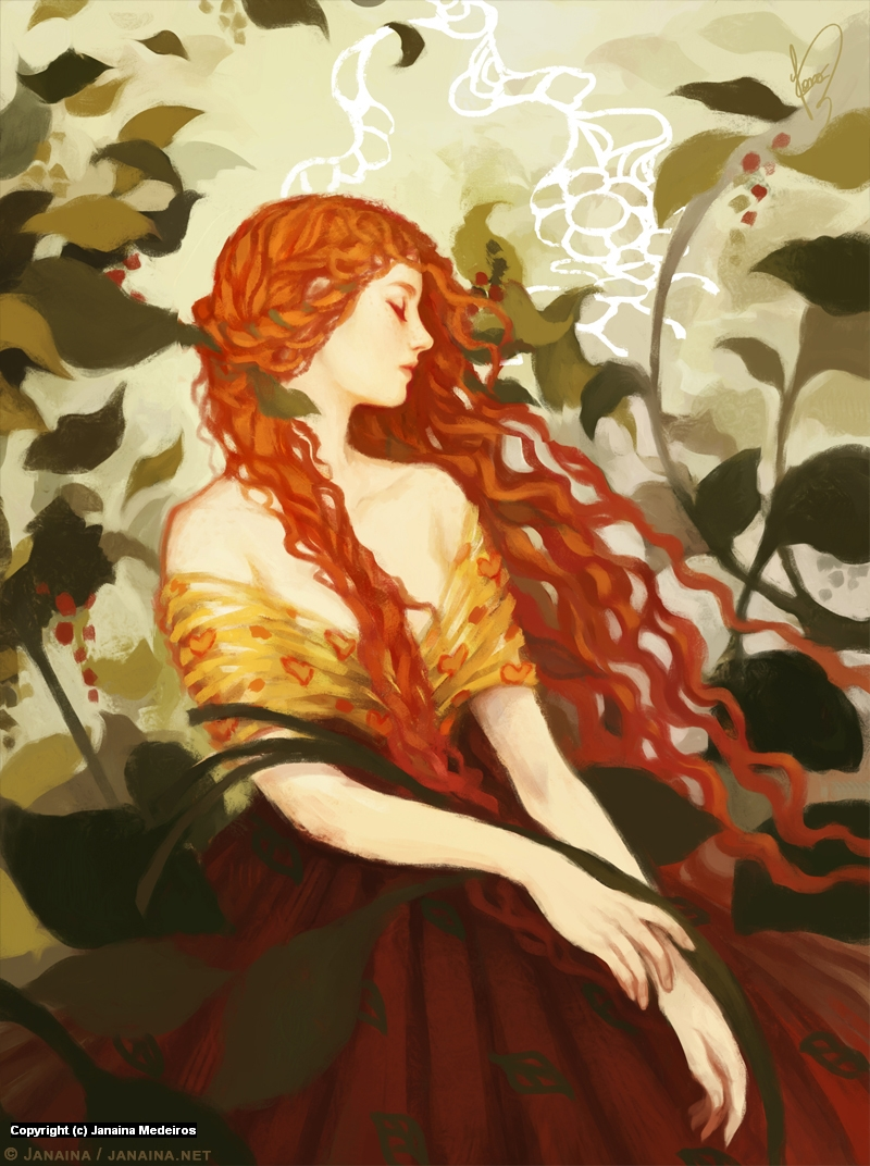 Ophelia Artwork by Janaina Medeiros