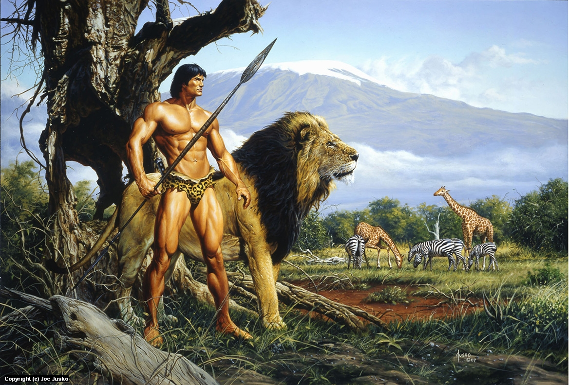 TARZAN AND THE GOLDEN LION Artwork by Joe Jusko