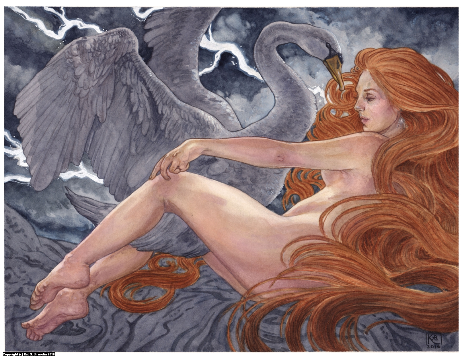 Leda Artwork by Katherine Guevara-Birmelin