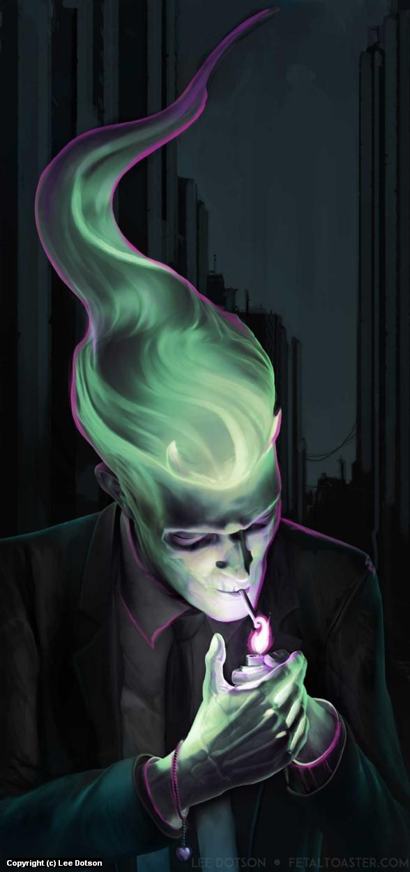 The Smoker Artwork by Lee Dotson