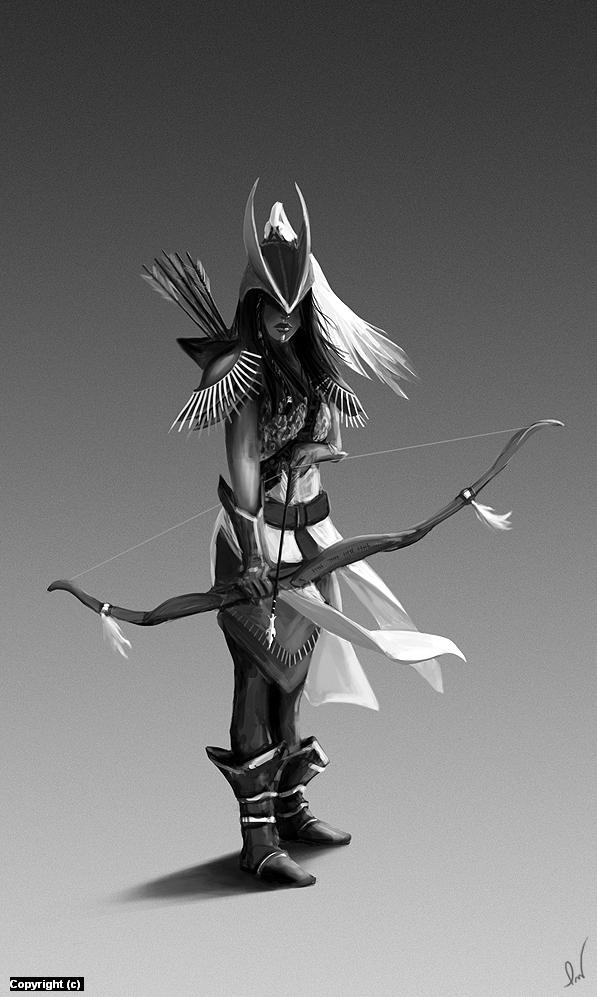 Archers Commander Artwork by Patryk Wojciechowicz