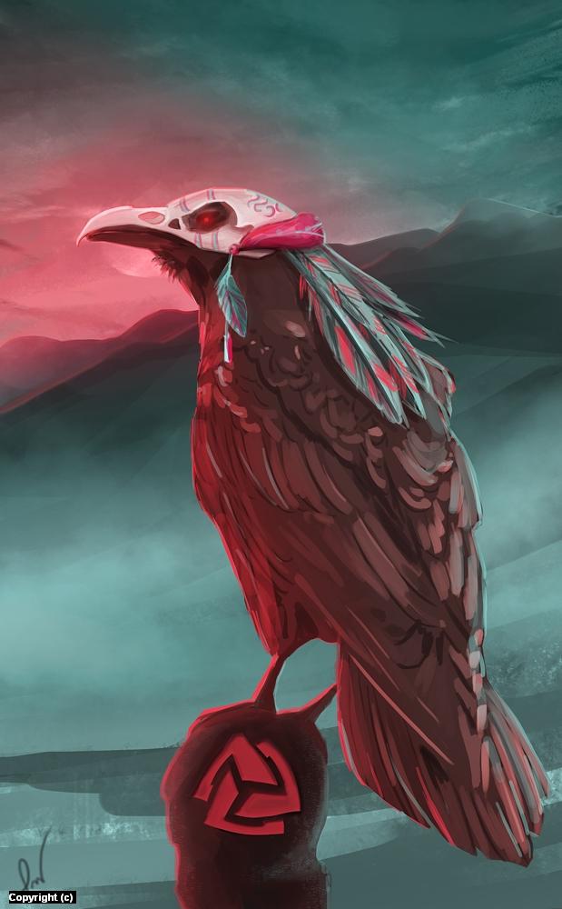 Hugin Artwork by Patryk Wojciechowicz