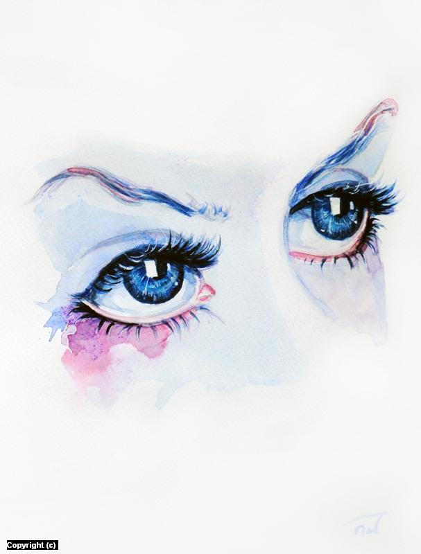 Aquarelleyes Artwork by Patryk Wojciechowicz