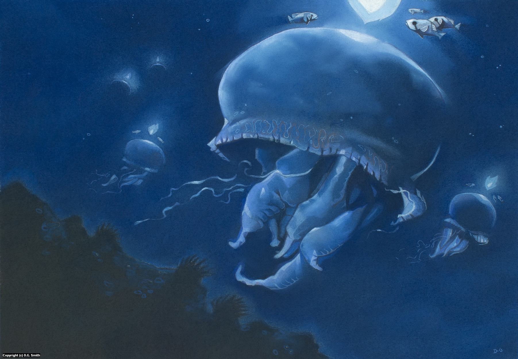 Blue Lantern Bearers Artwork by D.G. Smith