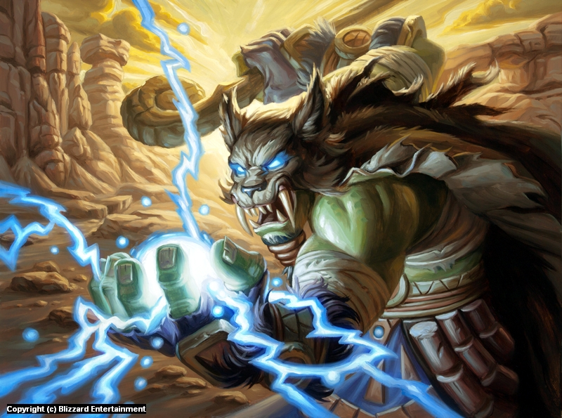 Infected By Art Art Gallery Mike Sass Orc Shaman In Original
