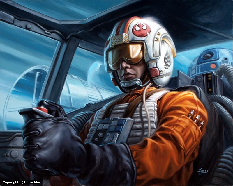 Infected By Art Gallery Mike Sass Luke Skywalker In Original Oil Paintings