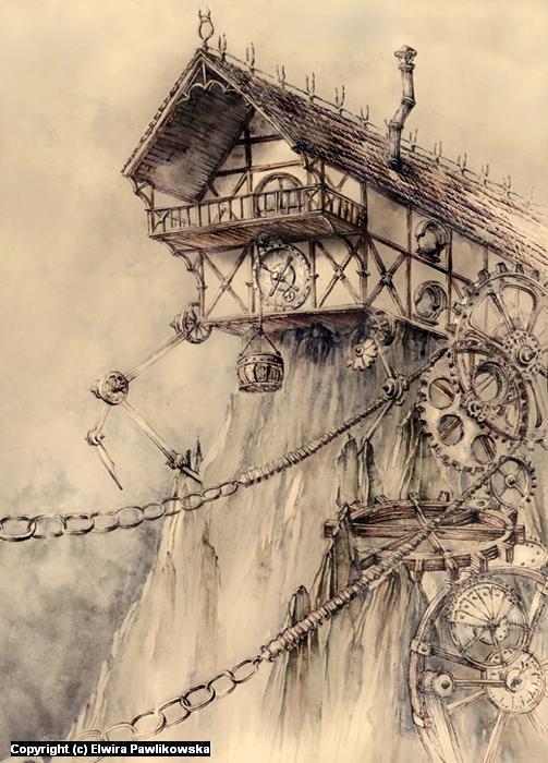 Steampunk House Artwork by Elwira Pawlikowska