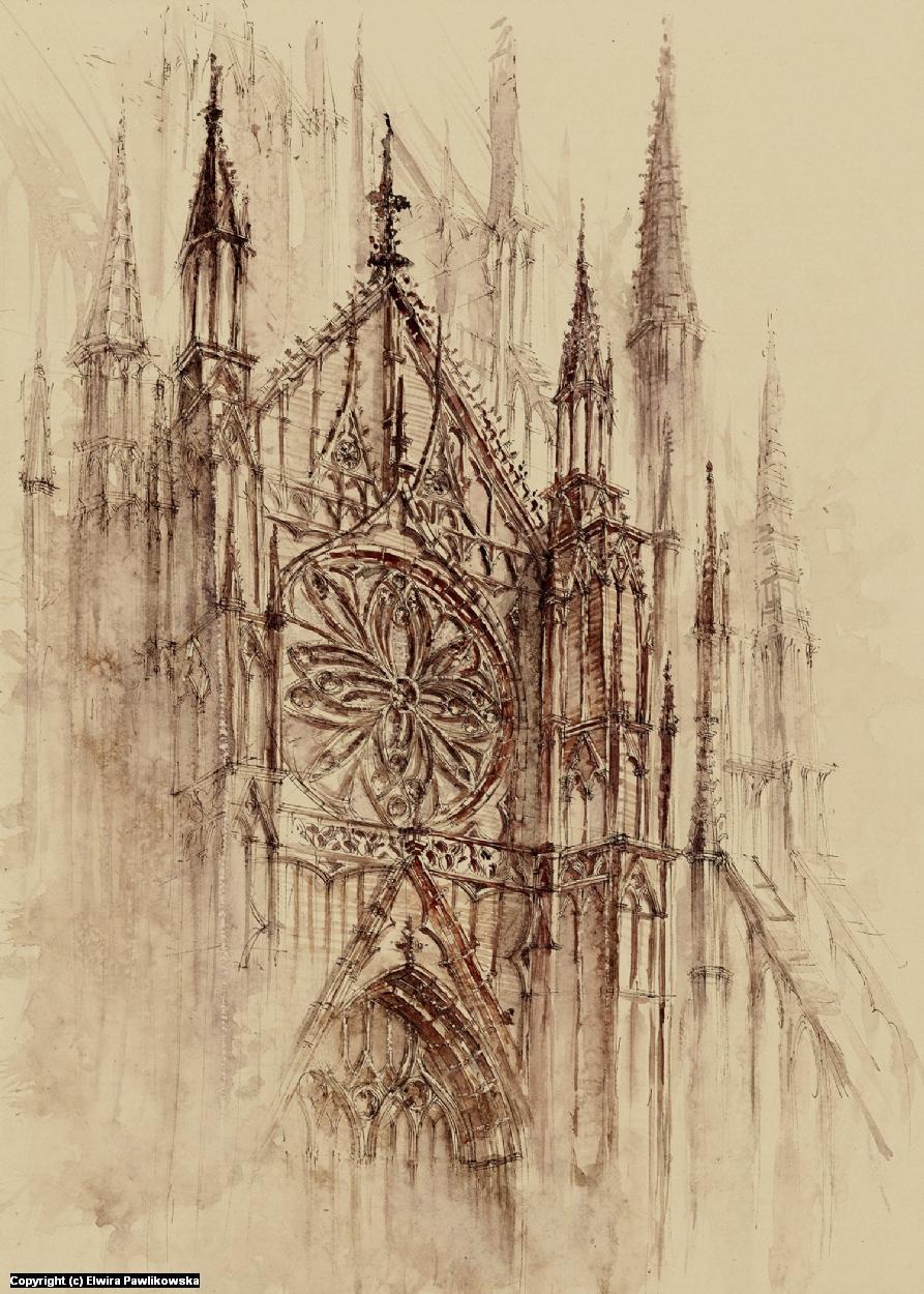 Cathedral Artwork by Elwira Pawlikowska
