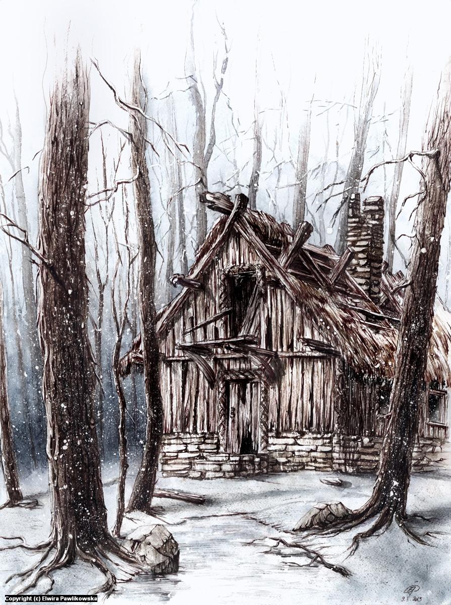 Winter Scene Artwork by Elwira Pawlikowska