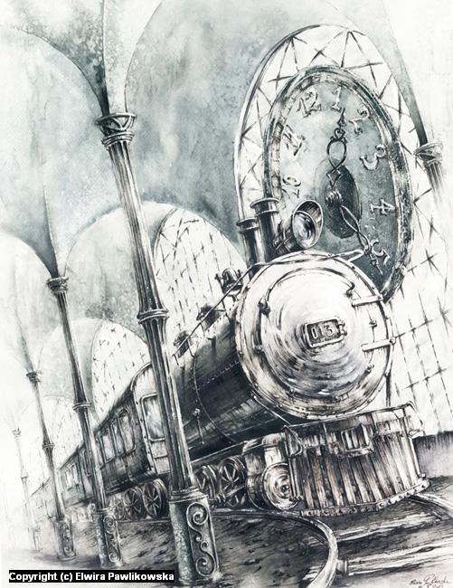 Train Artwork by Elwira Pawlikowska