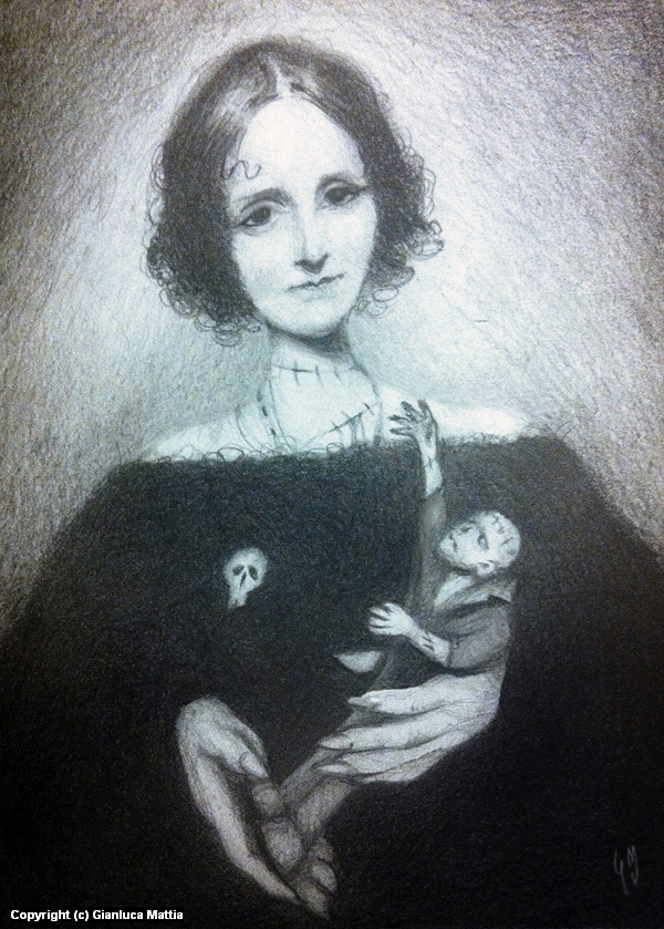 Mary Shelley - Mini Portrait Series Artwork by Gianluca Mattia