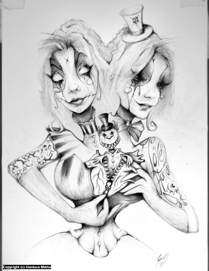 Horror Girl 2015 Artwork by Gianluca Mattia