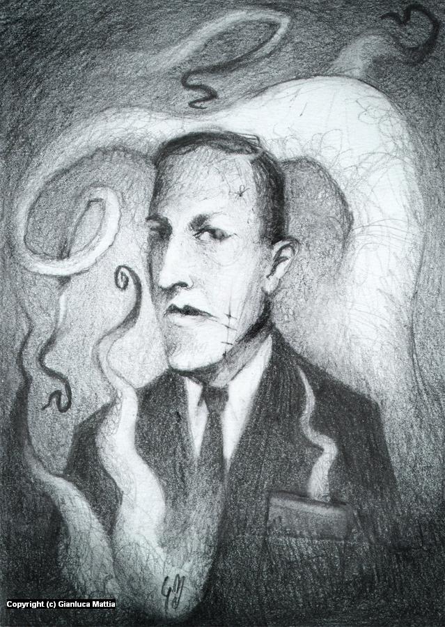 H.P. Lovecraft - Mini Portrait Series Artwork by Gianluca Mattia