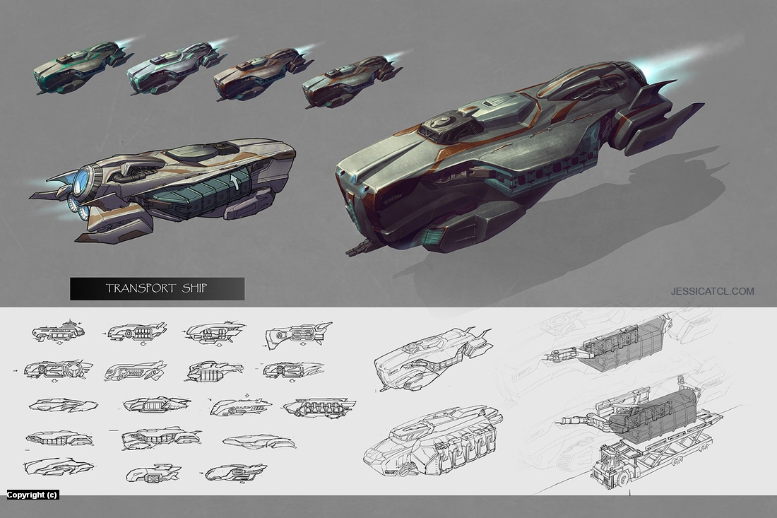 Transport Ship Artwork by Jessica Tung Chi Lee