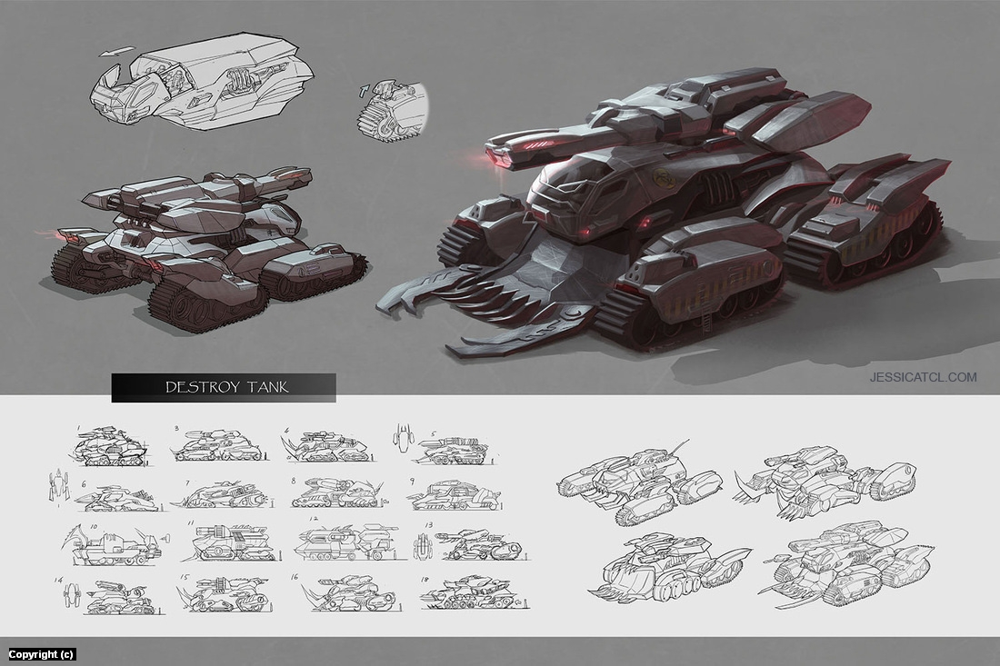 Destroy Tank Artwork by Jessica Tung Chi Lee