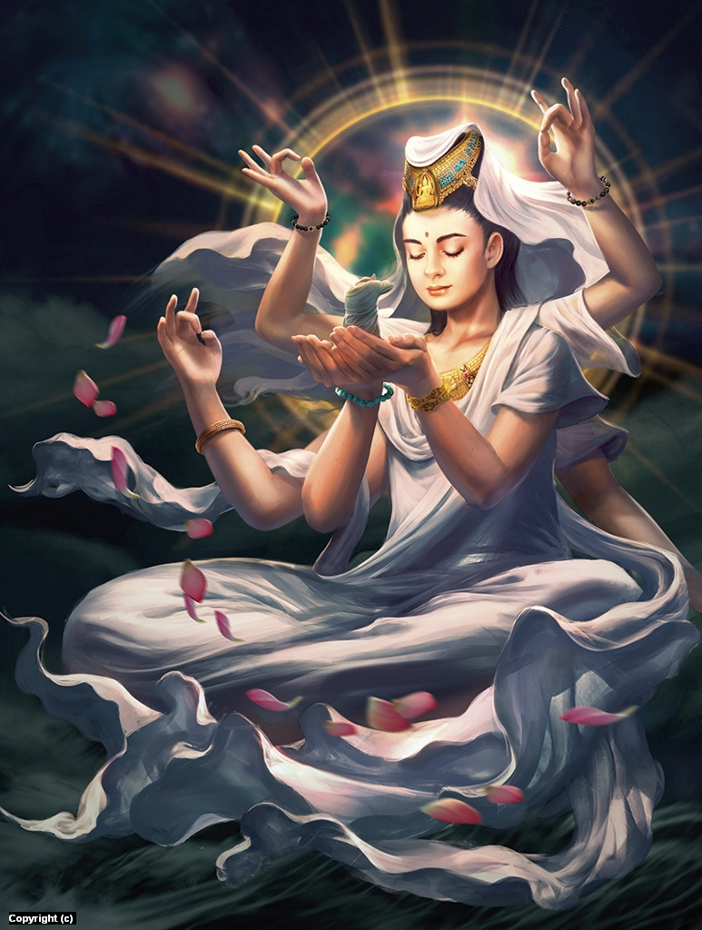 Guan Yin Artwork by Jessica Tung Chi Lee