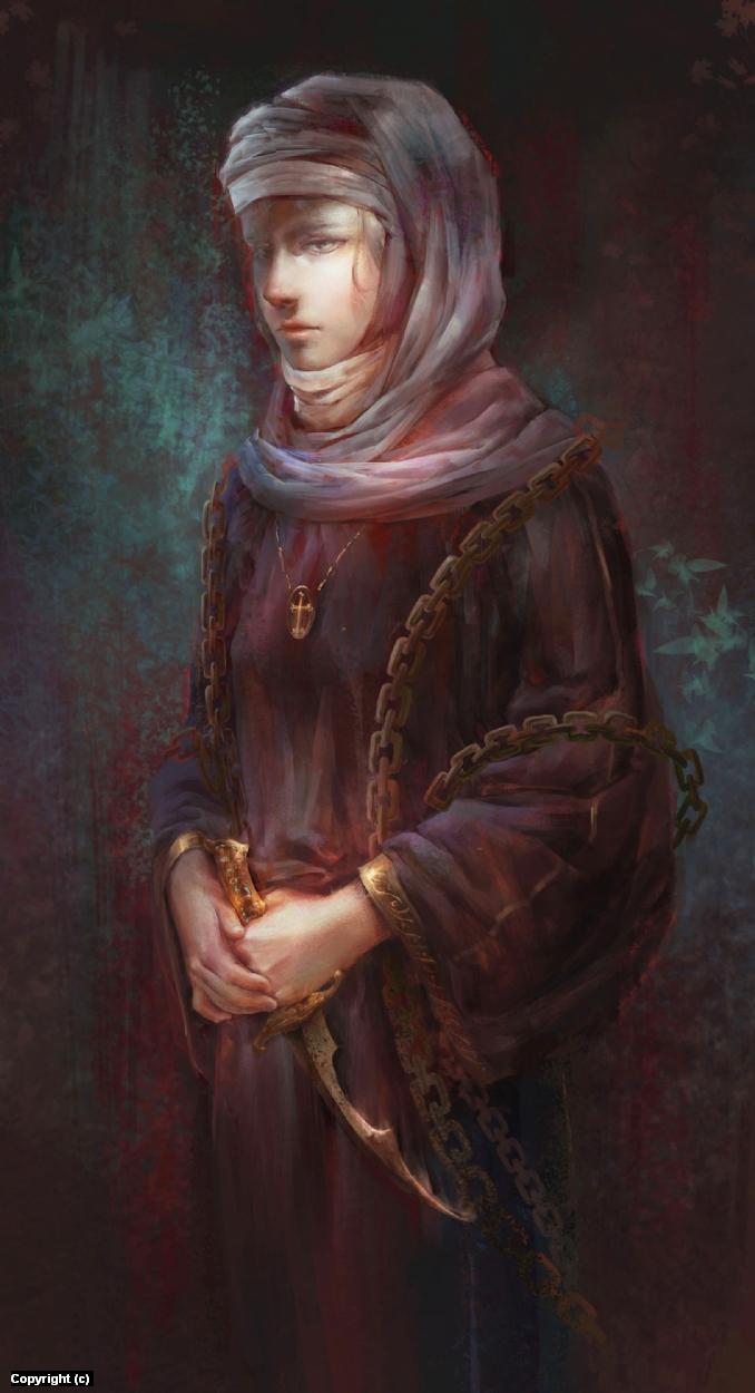 Nun Artwork by Jessica Tung Chi Lee