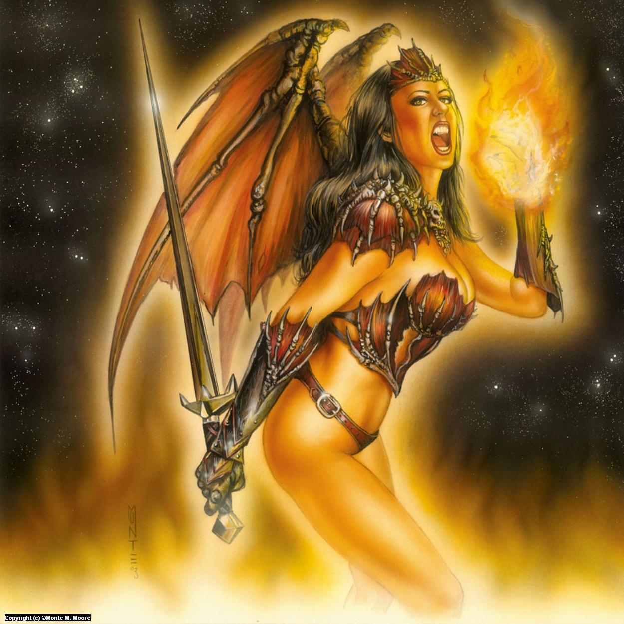 Knightfire Artwork by Monte Moore